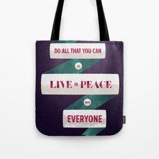 Romans 12:18 Tote Bag