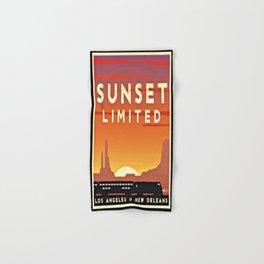 Vintage poster - Sunset Limited Hand & Bath Towel
