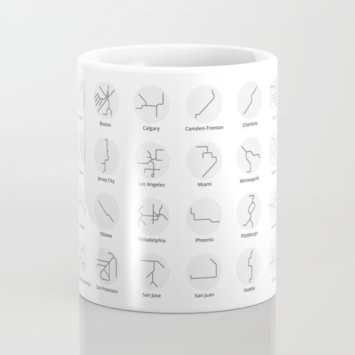 Mini Metros - U.S. and Canada (Black & White) Coffee Mug