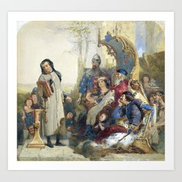 Madox Brown Chaucer at the Court of Edward III Art Print