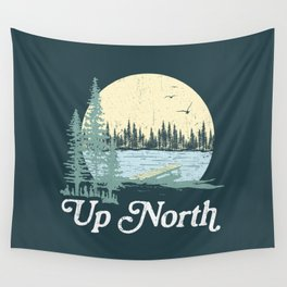 Up North Lake, Blue Spruce Wall Tapestry