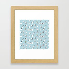 Teeth pattern Framed Art Print