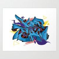 FNOOB Techno Underground Art Print