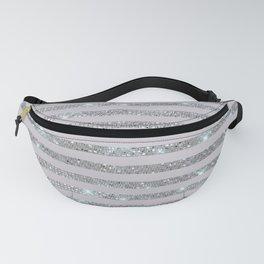 Silver Sparkle Stripes Fanny Pack