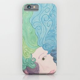 Higher Self Curly Rainbow Hair iPhone Case