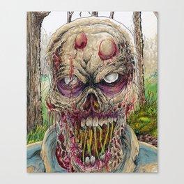 Walking Dead Horror Zombie Art Canvas Print