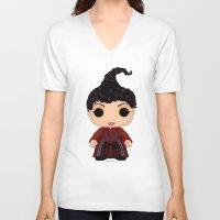 hocus pocus V-neck T-shirts featuring Hocus Pocus Mary by SpaceWaffle