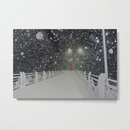 snow light Metal Print