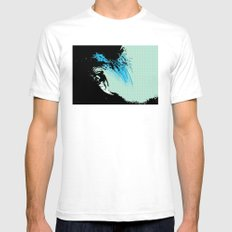 Surfing SMALL Mens Fitted Tee White