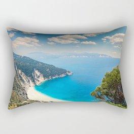 The famous beach Myrtos in Kefalonia island, Greece Rectangular Pillow