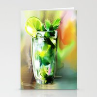 cocktail Stationery Cards featuring cocktail by tatiana-teni