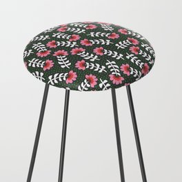 Camelita Retro Folk Flower Counter Stool