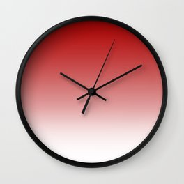 Deep Red White Color Gradient Wall Clock