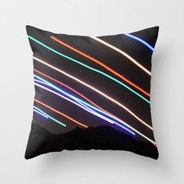 Meteor Rainbow Throw Pillow