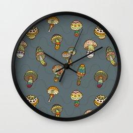 Hallucinogenic mushrooms Wall Clock