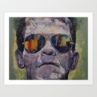 frankenstein Art Prints featuring Frankenstein by Michael Creese