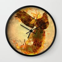 phoenix Wall Clocks featuring Phoenix by Barruf