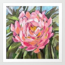 Big Pink Flower Zinnia Art Print