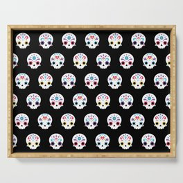 Cute sugar skulls B Serving Tray