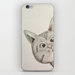 Cross-eyed cat iPhone Skin