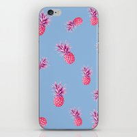 pinapple iPhone & iPod Skins featuring Super Fresh by Galaxy Eyes