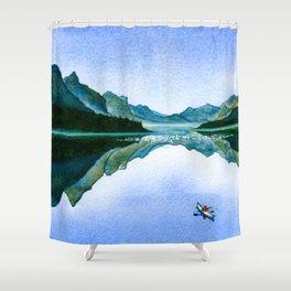 Mountain Reflection Shower Curtain