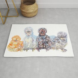 Silkie Chicken Huddle Rug