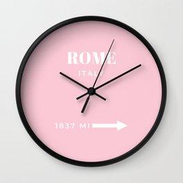 Rome Art Travel Art Rome Wall Art Italy Poster Pastel Pink Fashion Poster Modern Home Decor Wall Clock