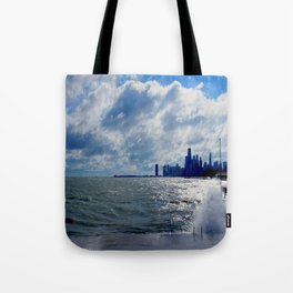 When Sandy Made Waves in Chicago #4 (Chicago Waves Collection) Tote Bag