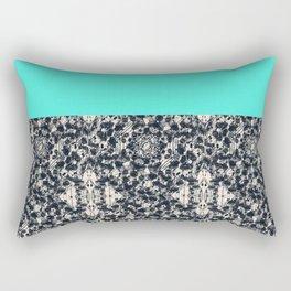 Modern Lace & Aqua Rectangular Pillow
