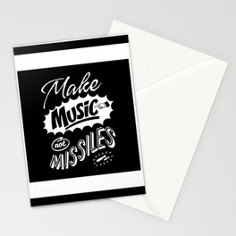 Motivational & Inspirational Quotes - Make music and missiles MMS 513 Stationery Cards