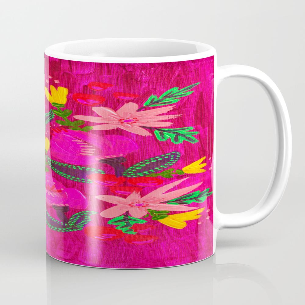 Pink Magenta Blooms Mug by Annabelleroweart MUG8731202