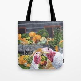 Fall Turkeys Tote Bag