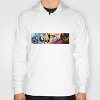 calendars Hoodies featuring Pop Art Pin-Up girl in the car shop wall by Sofia Youshi