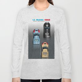 GT40 Le Mans 1966, Finish side by side Long Sleeve T-shirt