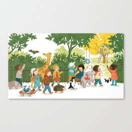 We will play here! Canvas Print