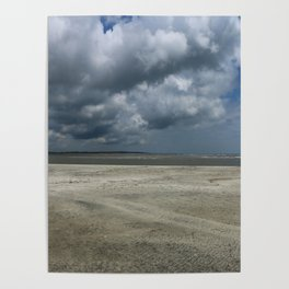 Dramatic Sky Over Golden Isles Beach Poster