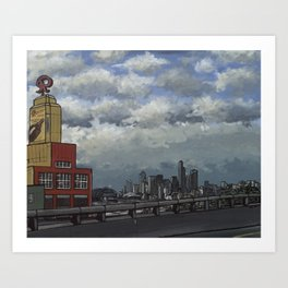 Brewing for a Beautiful Day in Seattle Art Print