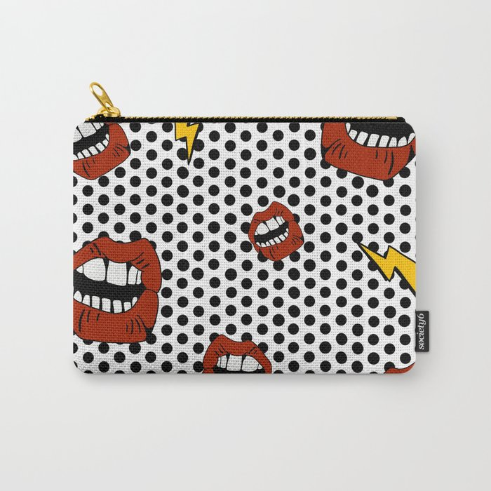 Pop Lips Carry-All Pouch