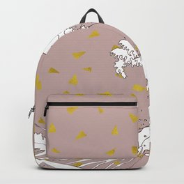 Rolling Waves in Gold Backpack