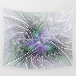 Abstract Floral Fractal Art Wall Tapestry