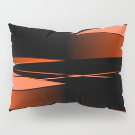 Black and red Pillow Sham