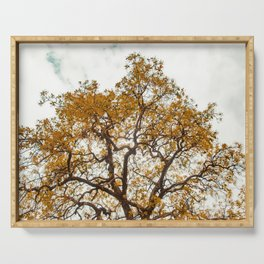 Yellow Tree Serving Tray