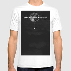 Sleep With Your Eyes Open MEDIUM Mens Fitted Tee White