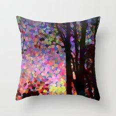 Jellybean Skies Throw Pillow