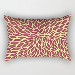 Red flow Rectangular Pillow