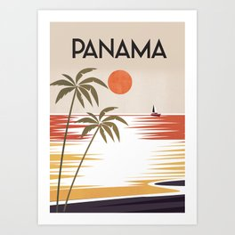 Panama travel poster Art Print