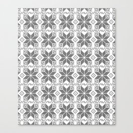 Gray and white Christmas pattern. Canvas Print