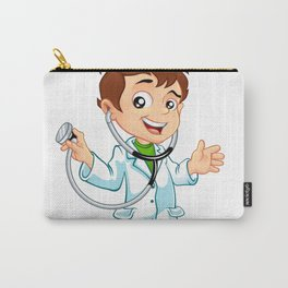 Cute little male doctor smiling Carry-All Pouch