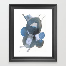 Up and Away Watercolor Point Abstract Framed Art Print